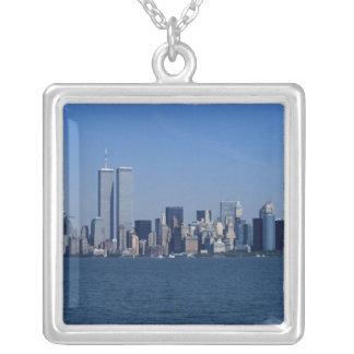 New York, USA. Skyline von im Stadtzentrum Versilberte Kette