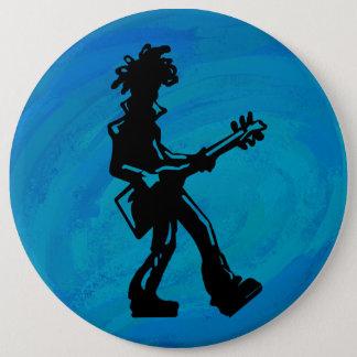 New- YorkBoogie-Nachtgitarren-Blau Runder Button 15,3 Cm