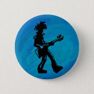 New- YorkBoogie-Nachtgitarren-Blau Runder Button 5,7 Cm