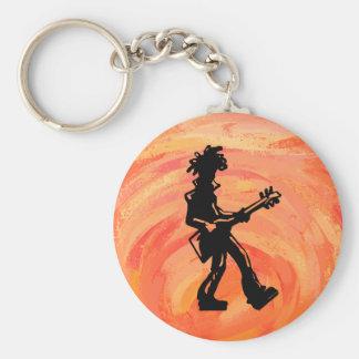 New- YorkBoogie-Nachtgitarren-Orange Schlüsselanhänger