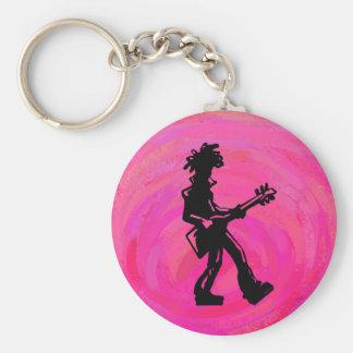New- YorkBoogie-Nachtgitarren-Pink Schlüsselanhänger