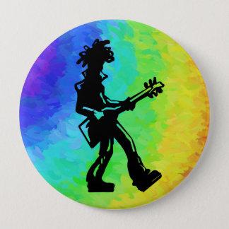 New- YorkBoogie-Nachtgitarren-Regenbogen Runder Button 10,2 Cm