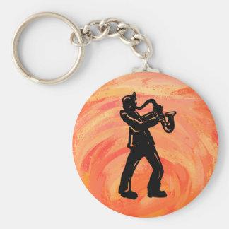 New- YorkBoogie-NachtSaxophon-Orange Schlüsselanhänger