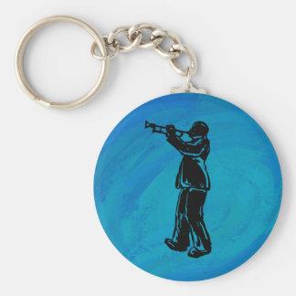 New- YorkBoogie-Nachttrompete-Blau Schlüsselanhänger