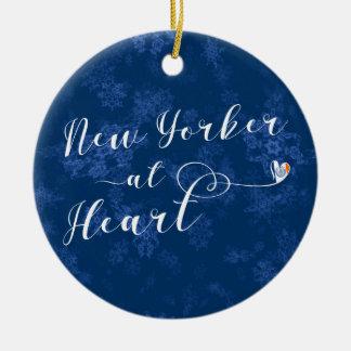 New Yorker an der Herz-Feiertags-Dekoration, NYC Keramik Ornament