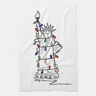New- Yorkfreiheitsstatue Weihnachtslicht-Tuch Küchentuch