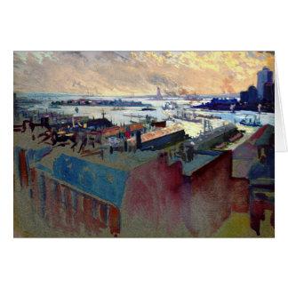 New- Yorkhafen von der Margaret 1922 Karte