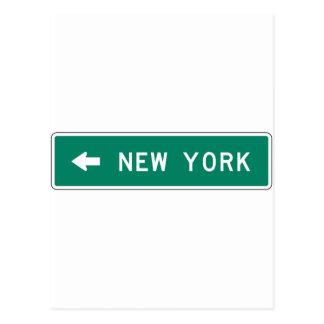 New- Yorklandstraßen-Zeichen Postkarte