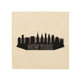 New- YorkSkyline Holzleinwand