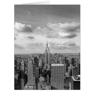New- YorkSkyline in Schwarzweiss Riesige Grußkarte