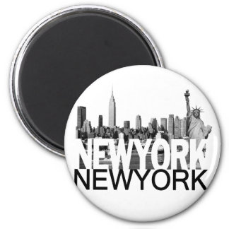 New- YorkSkyline Runder Magnet 5,1 Cm