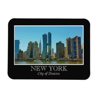 New Yorkskyline-Schwarz-weißer Rahmen Magnet