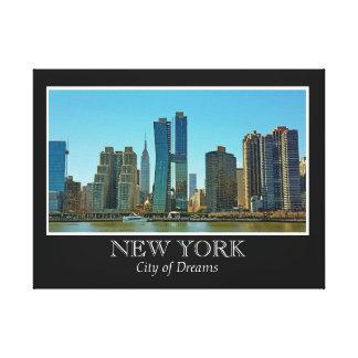New Yorkskyline-Schwarz-weißes Rahmen-Foto Leinwanddruck
