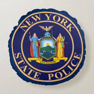 New- YorkStaats-Polizei Rundes Kissen