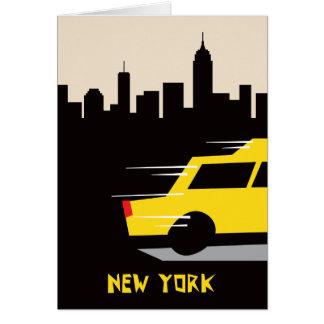 New- Yorktaxi-Gruß-Karte Grußkarte