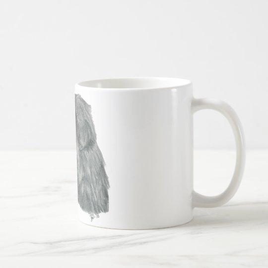 Newfie Graphitzeichnen Kaffeetasse