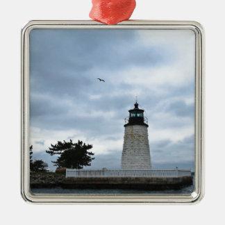Newport-Hafen-Leuchtturm Silbernes Ornament