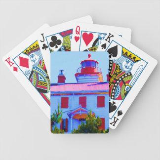 Newport-Leuchtturm an Yaquina Bucht Bicycle Spielkarten