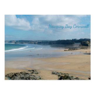 Newquay Bucht setzt Cornwall England auf den Postkarte