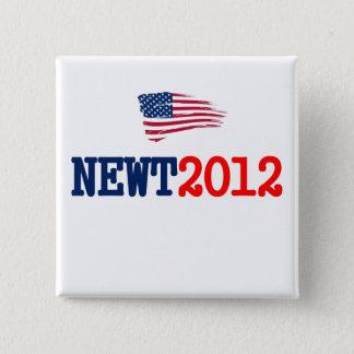 Newt 2012 RW&B Quadratischer Button 5,1 Cm