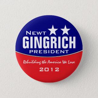 Newt Gingich Runder Button 5,7 Cm