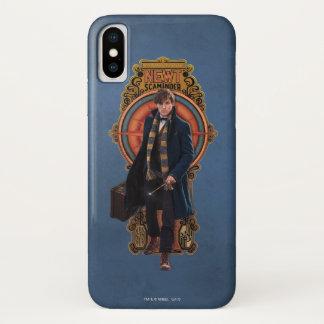 NEWT SCAMANDER™ gehende Kunst Nouveau Platte iPhone X Hülle