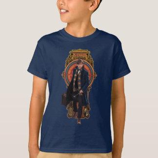 NEWT SCAMANDER™ gehende Kunst Nouveau Platte T-Shirt