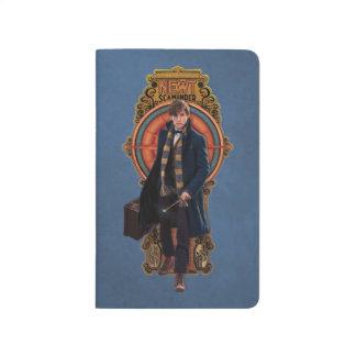 NEWT SCAMANDER™ gehende Kunst Nouveau Platte Taschennotizbuch
