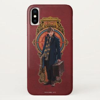 NEWT SCAMANDER™ stehende Kunst Nouveau Platte iPhone X Hülle