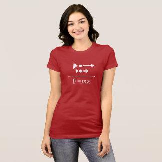 Newtons an zweiter Stelle Gesetz T-Shirt