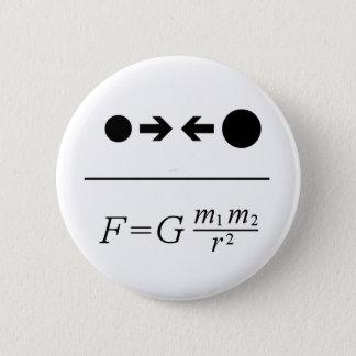 Newtons Gesetz der Gravitation Runder Button 5,1 Cm