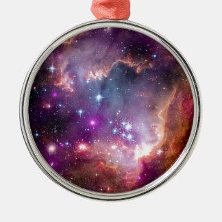 NGC 602 Stern-Bildung - Raum-Foto der NASAs Hubble Silbernes Ornament