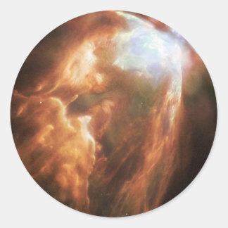 NGC 6302 die Schmetterlings-Nebelfleck NASA Runder Aufkleber
