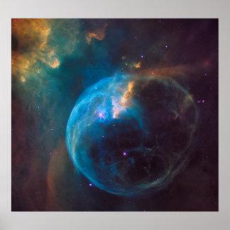 NGC 7635 - Der Blasen-Nebelfleck Poster