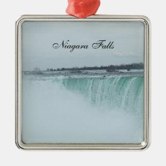 Niagara- Fallsweihnachtsverzierung Silbernes Ornament