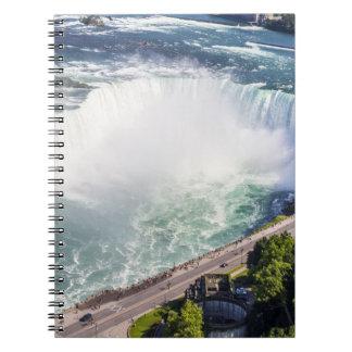 Niagara-Hufeisen-Fallwasserfall Kanada Notizblock