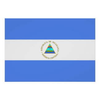 Nicaragua-Flagge Poster