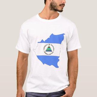 Nicaragua-Flaggenkarte T-Shirt