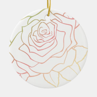 Nice Rose Flower in Pink Ombre, Rose Flower, giftt Keramik Ornament
