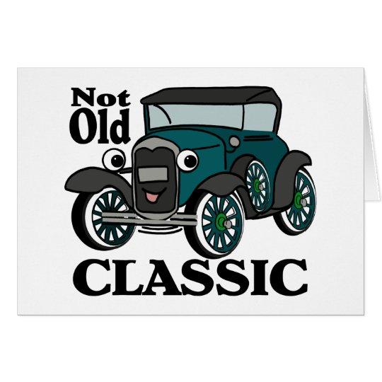 Nicht altes klassisches antikes Auto Karte