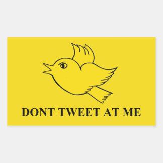 """""""Nicht an mir"""" tweeten Aufkleber"""