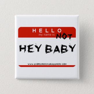 Nicht he Baby-Knopf Quadratischer Button 5,1 Cm