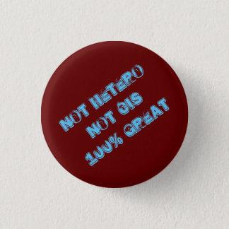 Nicht Hetero nicht diesseits 100% großer Knopf Runder Button 3,2 Cm