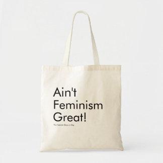 Nicht ist der große Feminismus Tragetasche