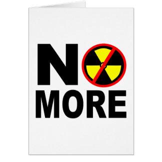 Nicht mehr Anti-Nuklearer Protest-Slogan Grußkarte