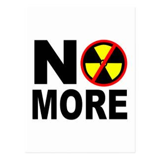 Nicht mehr Anti-Nuklearer Protest-Slogan Postkarten