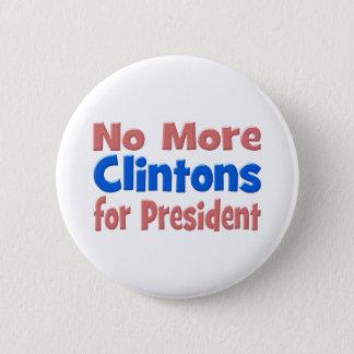 Nicht mehr Clintons für Präsidenten Button, Rosa Runder Button 5,1 Cm