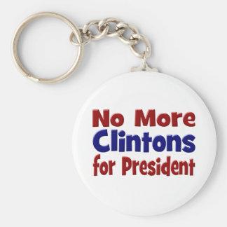 Nicht mehr Clintons für Präsidenten Schlüsselkette Schlüsselanhänger
