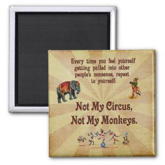 Nicht meine Affen, nicht mein Zirkus Quadratischer Magnet