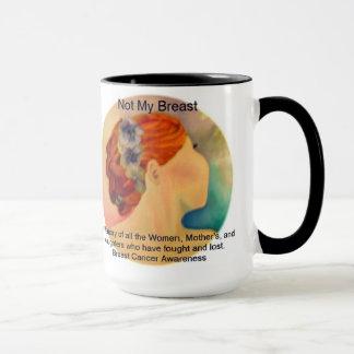 Nicht meine Brust in liebevoller Gedächtnis-Tasse Tasse
